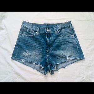 Levi's midrise cutoff jean shorts